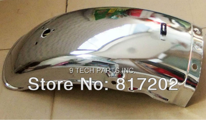 High Quality GN250 GN 250 GN125 Rear Chrome Fender / Mudguard NEW FREE SHIPPING high quality chrome rear trunk streamer for honda jazz fit 09 up free shipping brand new