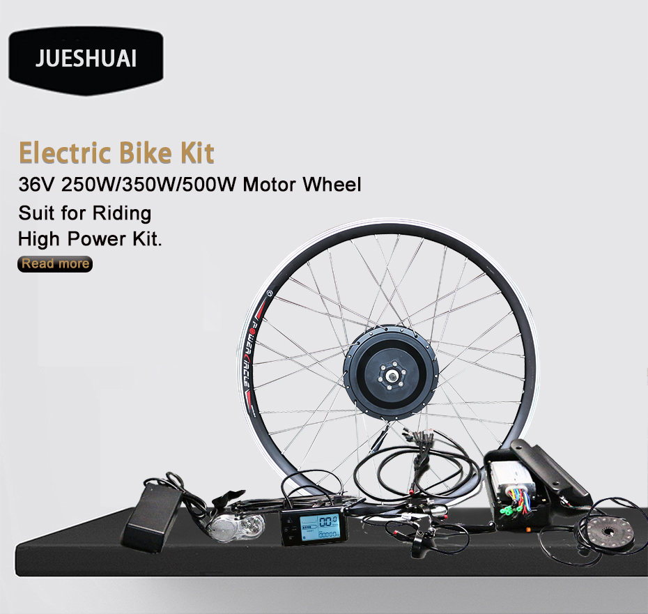 Top DIY 2018 New Brushless Electric Bicycle Kits NO Battery 36V 250W 350W 500W Motor Controller Electric Etc Bicycle Conversion Kit 0