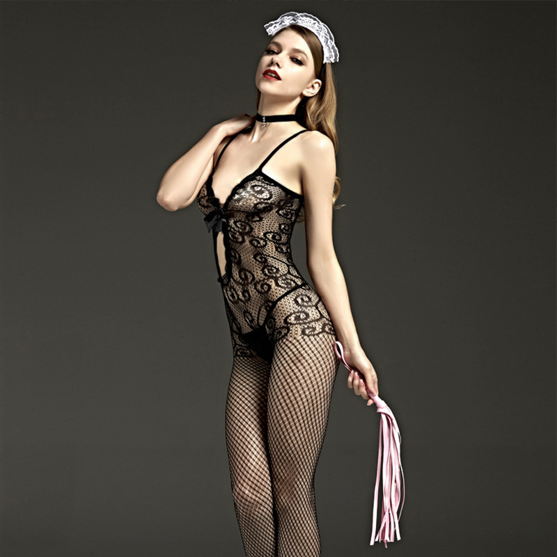 Womens Sexy Lingerie Hot Body stockings Sexy Dress Underwear womens thin nylon tights Gridding Erotic Lingerie Sex Pantyhose