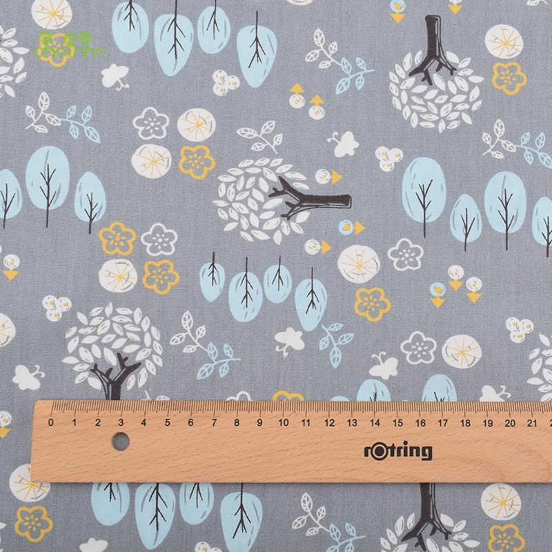 Chainho, 회색 만화 인쇄 능 직물 코 튼 원단, diy 퀼 팅 바느질/아기 및 어린이/시트, 베개 소재, 절반 미터의 조직
