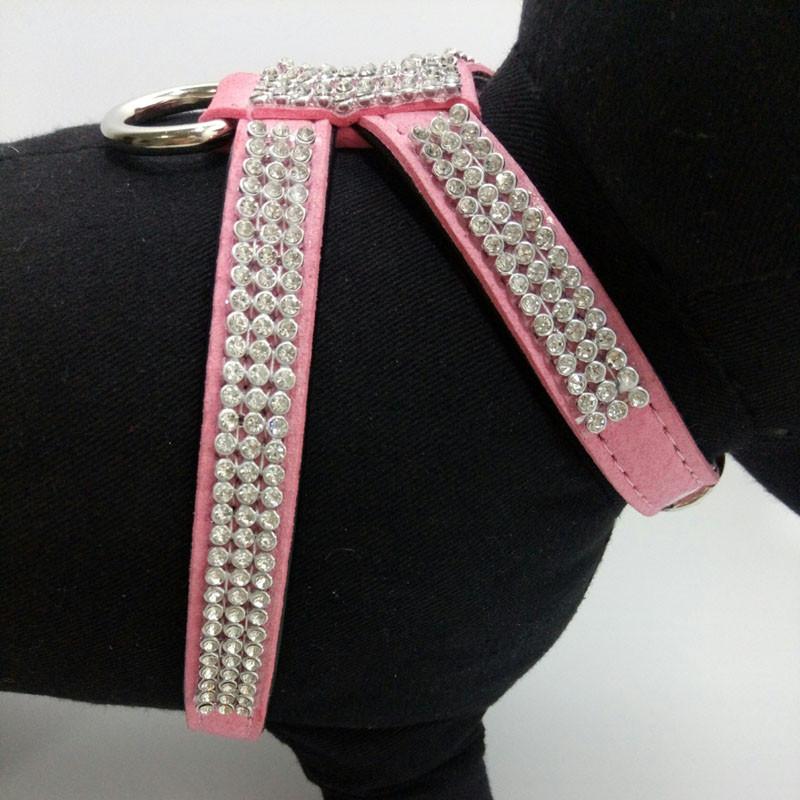 Fashion Diamond Pet Harness Dog Collar Bling Rhinestone PU Leather Dogs Collars for Chihuahua Small Medium Large Size Hot Pet Supplies15