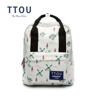 TTOU Fresh Canvas Backpack Preppy Style Cute Travel Bags For Women School Backpacks For Girl Women's Bags