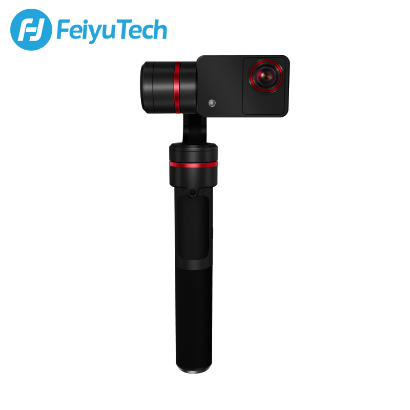 FeiyuTech Summon 3-Axis Handheld Gimbal Brushless Camera Stabilize with 4K 1080P Action Cam 16 Mega Pixels 2.0 Inch HD