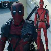 Deadpool Cosplay Kostüm Halloween kostüme für Erwachsene Superhero Deadpool 2 Wade Cosplay Kostüm Deadpool overall stiefel