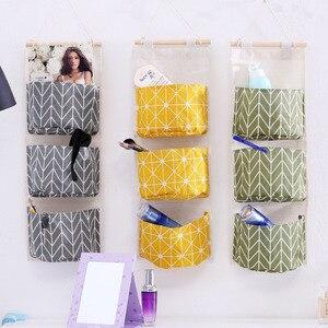 Image 5 - Foldable Hanging Pocket Organizer Storage Bag Foldable Hang Wall Dormitory Hanging Storage Organizador 2019 Hot Sale