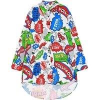Blusas Femininas Women HARAJUKU Funny Chiffon Blouses 2016 Summer Street Style Casual Ladies Long Sleeve Oversized
