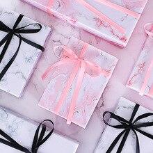 Fashionable Copper cardboard gift box Customized Imitation marble Carton Creativity Business Haute Couture Large