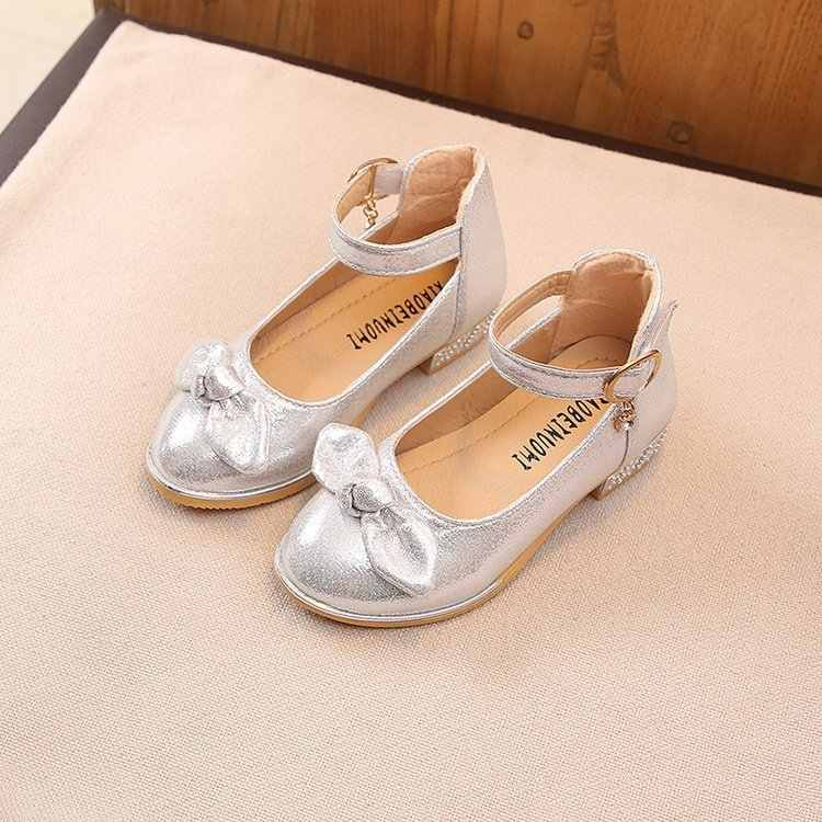 73396b93c9a Kids Flower Children Little Girl High Heels Gold Silver Dress Shoes For  Girls School Wedding And Party Prinses Shoes New Shoe