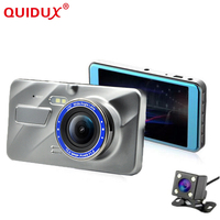 QUIDUX 2018 Car DVR 4 Inch IPS Screen Auto Camera Dual Lens FHD 1080P Dash Cam Video Recorder Night Vision G sensor Registrator