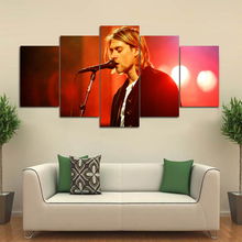 Modern Canvas Painting Singer Poster 5 Pieces Kurt Cobain Wall Art Home Decor For Living Room Print Pictures Artwork