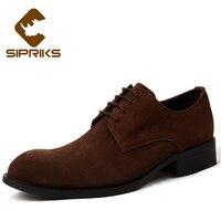 Sipriksสีดำหนังนิ่มวัวดาร์บี้รองเท้าสำหรับผู้ชายที่สง่างามม้ารองเท้าแต่งงานยางแต่