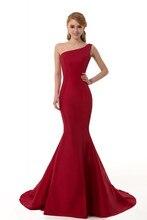 Burgund Prom Dresses 2016 Eine Schulter Meerjungfrau Kleid Für Prom Partei Reizvolle Backless Abendkleid Vestidos de festa