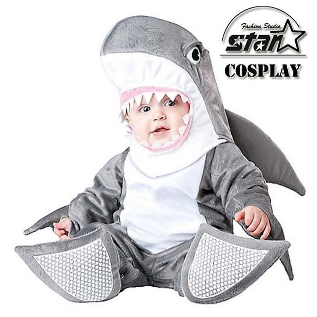 Novo Macacão Chegada do Dia Das Bruxas Natal Animal Tubarão Onesie Canguru Pinguins Traje Collant Romper Infantil Do Bebê Traje do bebê