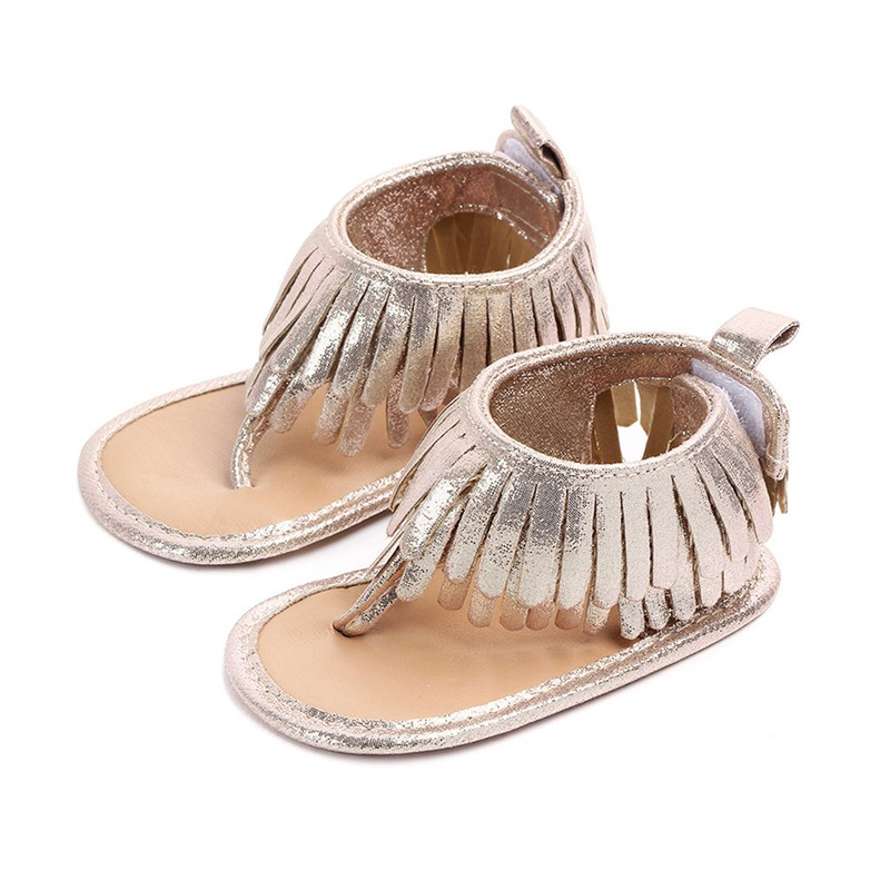 Summer Tassel Baby Shoes Soft Non-slip Crib Infant Girl Shoes Moccasins Sandal Baby Girls Sandals 0-18M US Ship