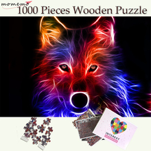 MOMEMO Wolf Puzzle 1000 Pieces Wooden Color Animal Jigsaw Puzzles Games Toys Adult Teenager Collectiable Gift