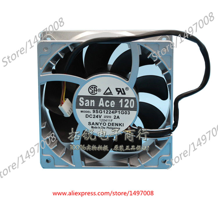 Sanyo 9SG1224P1G03 DC 24V 2A 120x120x38mm Server Square Fan sanyo 9sg1224p1g03 dc 24v 2a 120x120x38mm server square fan