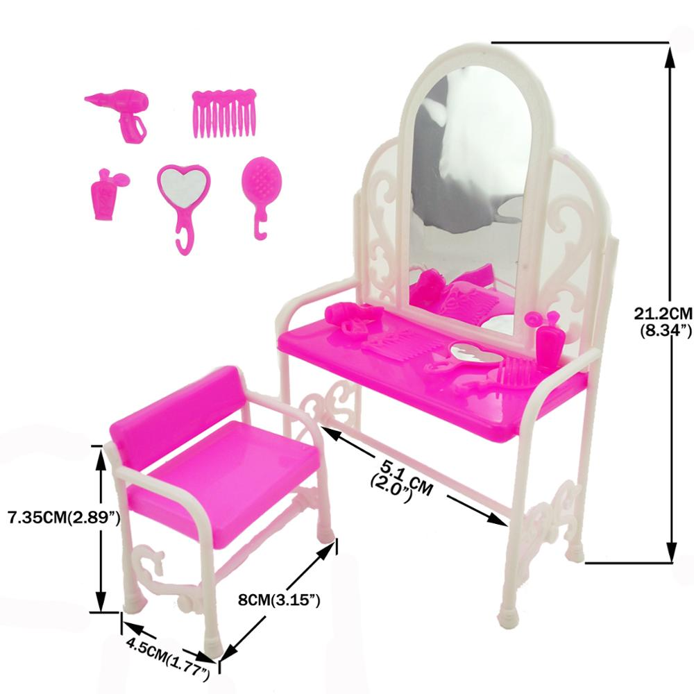 US $3.6 11% OFF|1 Set Cute Mini Plastic Princess Doll Dresser Dollhouse  Bedroom Furniture Accessories For Barbie Doll Girl\'s Birthday Toys-in Dolls  ...