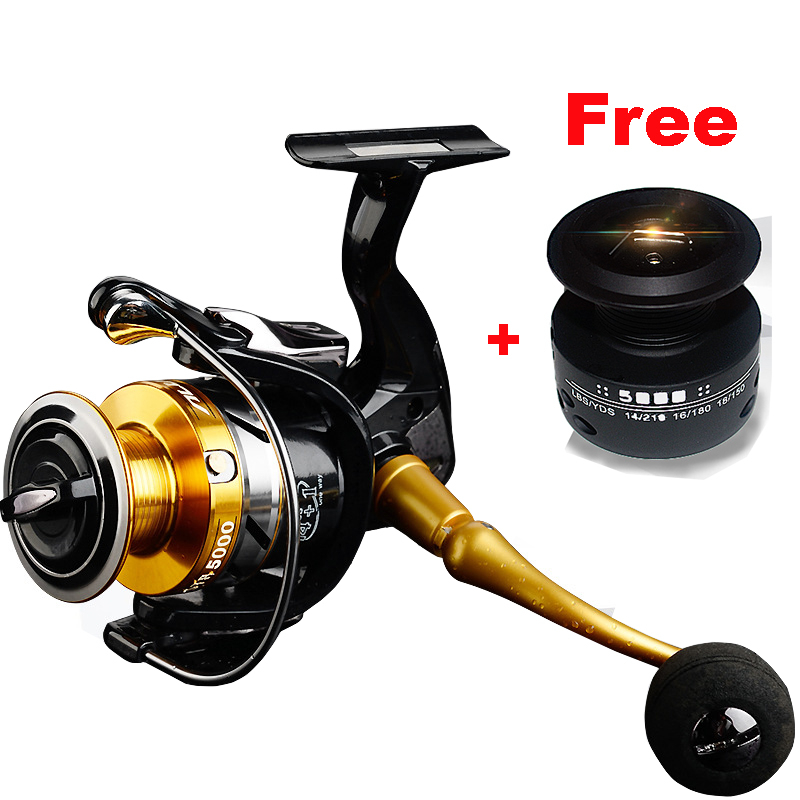LIEYUWANG 14 1 BB Double Spool 5.5:1 Gear Ratio High Speed Spinning Fishing Reel Carp