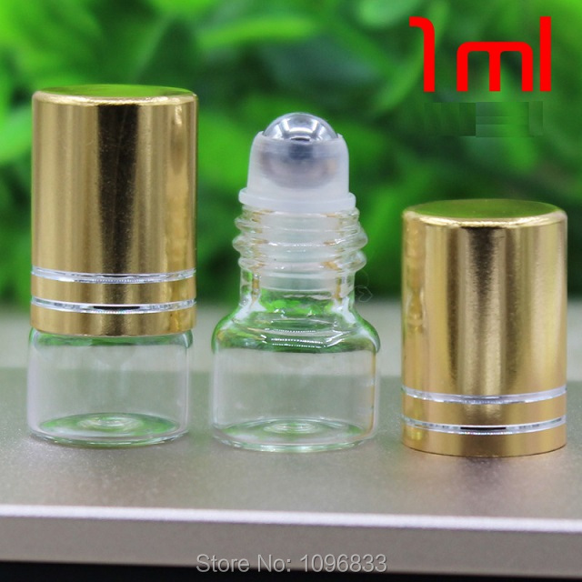 1 ML Glasrolle auf Flaschen mit Stahl Bead, Duftstoffphiolen, ätherisches Öl Flasche, leere Rolle auf Vials, kosmetische Fläschchen, 100 teile/los-in Nachfüllbare Flaschen aus Haar & Kosmetik bei AliExpress - 11.11_Doppel-11Tag der Singles 1