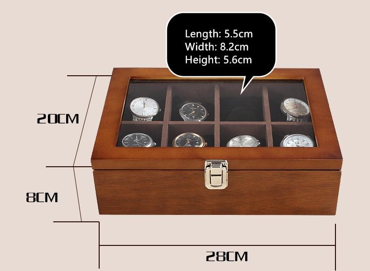 caixa organizadora de relógio de café, novo
