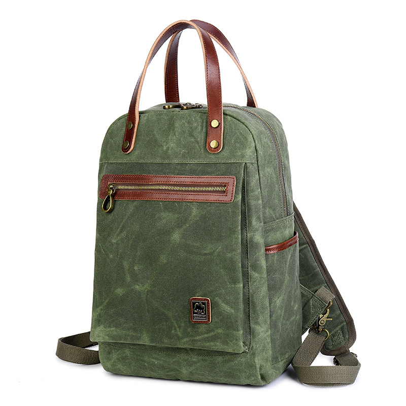 ETONTECK Vintage Oil Wax Canvas Backpack Men Waterproof Travel Shoulder Bag High Quality Fashion School Bag Male Laptop DaypackETONTECK Vintage Oil Wax Canvas Backpack Men Waterproof Travel Shoulder Bag High Quality Fashion School Bag Male Laptop Daypack