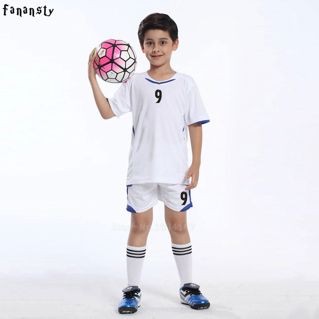 3177caa1e High quality child soccer jerseys 2017 2018 kids soccer set boys custom  football jersey uniforms kits kids youth new arrival