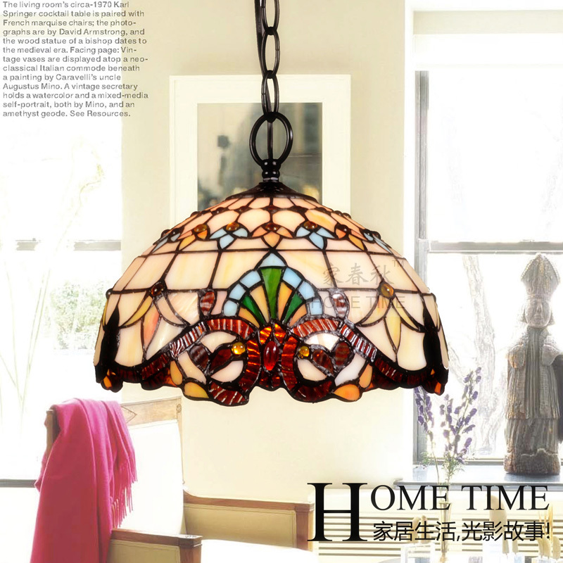 Tiffany EMS FREE SHIPPING Tiffany pendant light fashion romantic lighting rustic lamps restaurant lamp DF68  ems free shipping fashion pendant light brief wrought iron pendant light american lighting lamps rustic restaurant pendant lamp