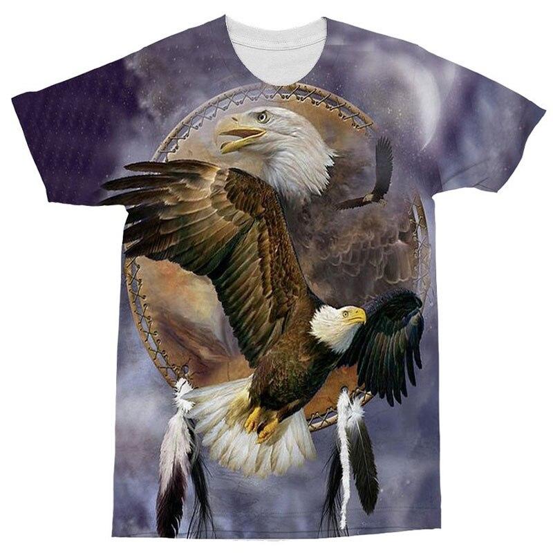 Eagle Men Tshirt 3d Camiseta Printed T shirt Funny T-shirt O-neck Top Brand Tees Short Sleeve Camiseta Fighting Print Eu Size