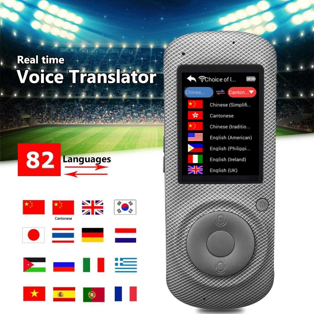 Voice Translator 82 Languages English Japanese Korean French Russian German Chinese Spanish Translation Travel Translator Gray