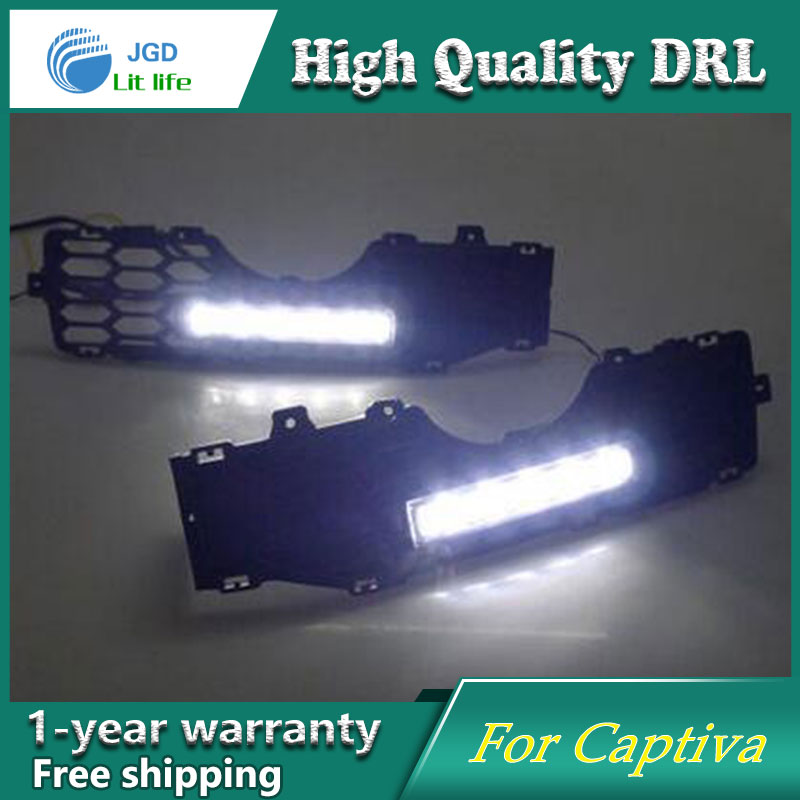 Free shipping !12V 6000k LED DRL Daytime running light case for Chevrolet Captiva 2008-2010 fog lamp frame Fog light Car styling