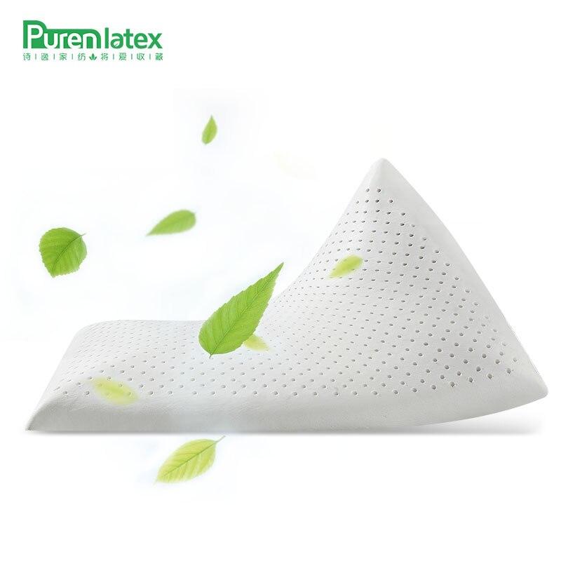 PurenLatex 60*40*7 Cartoon Children Kids Baby Natural Latex Pillow Animals Pillowcase Neck Spine Protect Teenager Thin Pillow