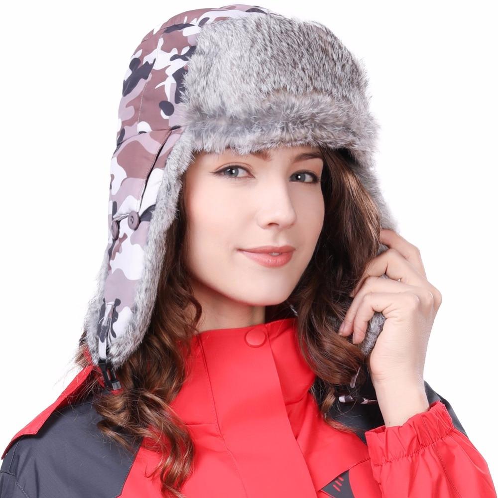 FANCET Hombre Bombardero Sombreros Trapper Ushanka Ruso Orejeras A - Accesorios para la ropa - foto 2