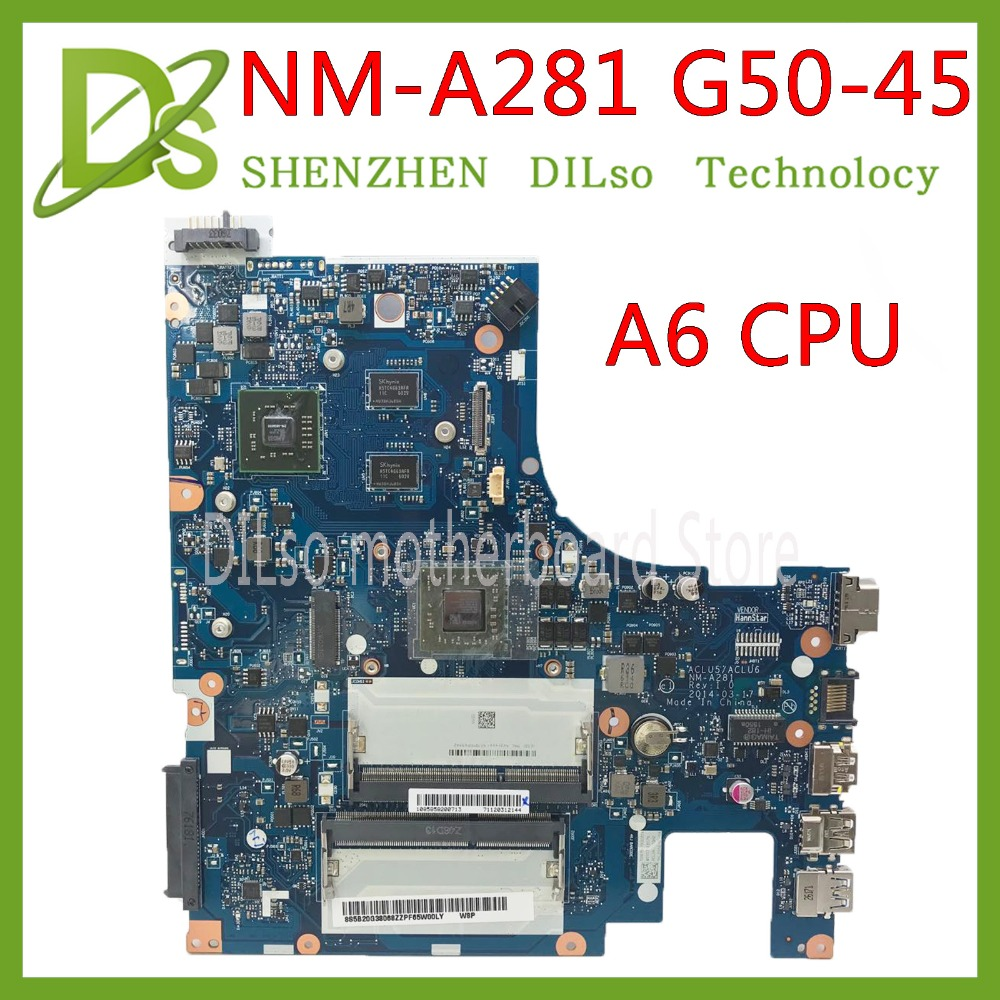 KEFU NM-A281 scheda madre Per Lenovo G50-45 scheda madre del computer portatile ACLU5/ACLU6 NM-A281 con A6 CPU R5 M230 GPU lavoro di Test 100% originaleKEFU NM-A281 scheda madre Per Lenovo G50-45 scheda madre del computer portatile ACLU5/ACLU6 NM-A281 con A6 CPU R5 M230 GPU lavoro di Test 100% originale