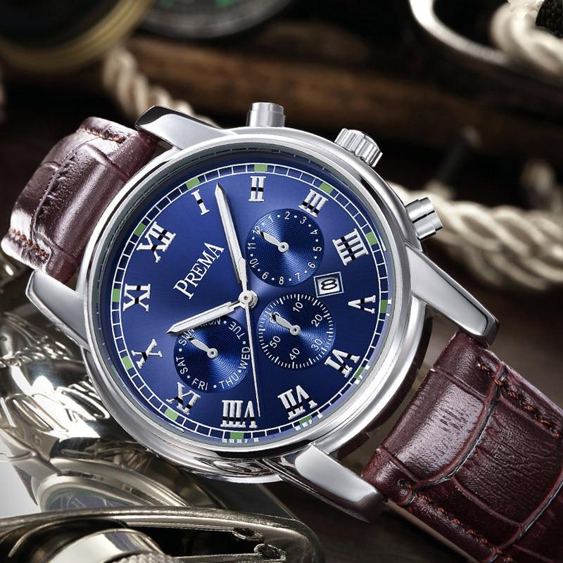 ФОТО PREMA Business Wrist Watch Men 2016 Top Brand Luxury Famous Wristwatch Male Clock Quartz Watch Hodinky Dress Relogio Masculino