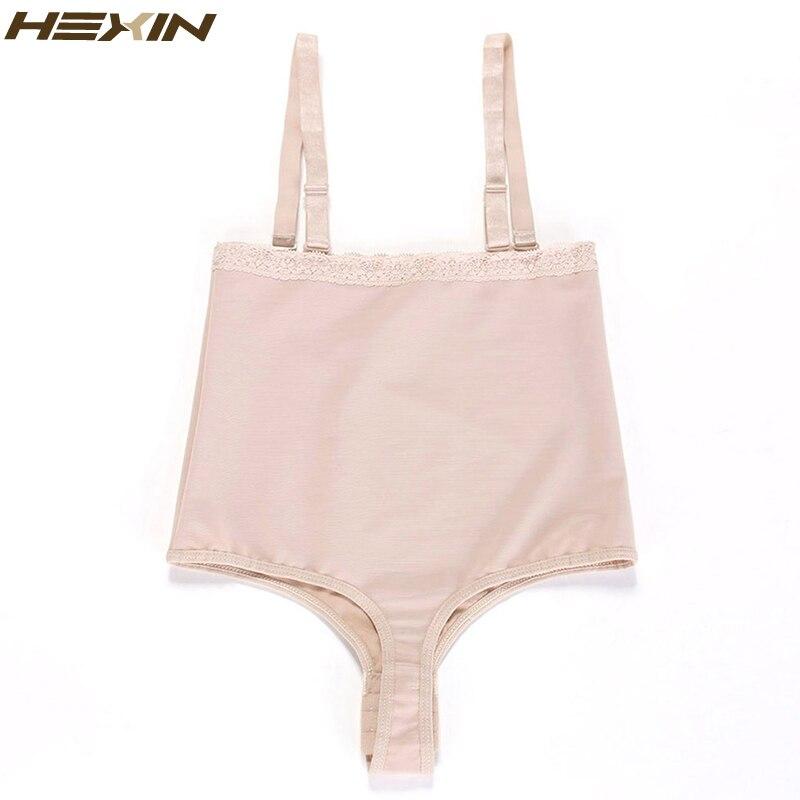 885dc8fc9658b HEXIN Women Shapewear High Waist Tummy Control Body Shaper Adjustable  Straps Underwear Thong Lingerie Slimming Bodysuit