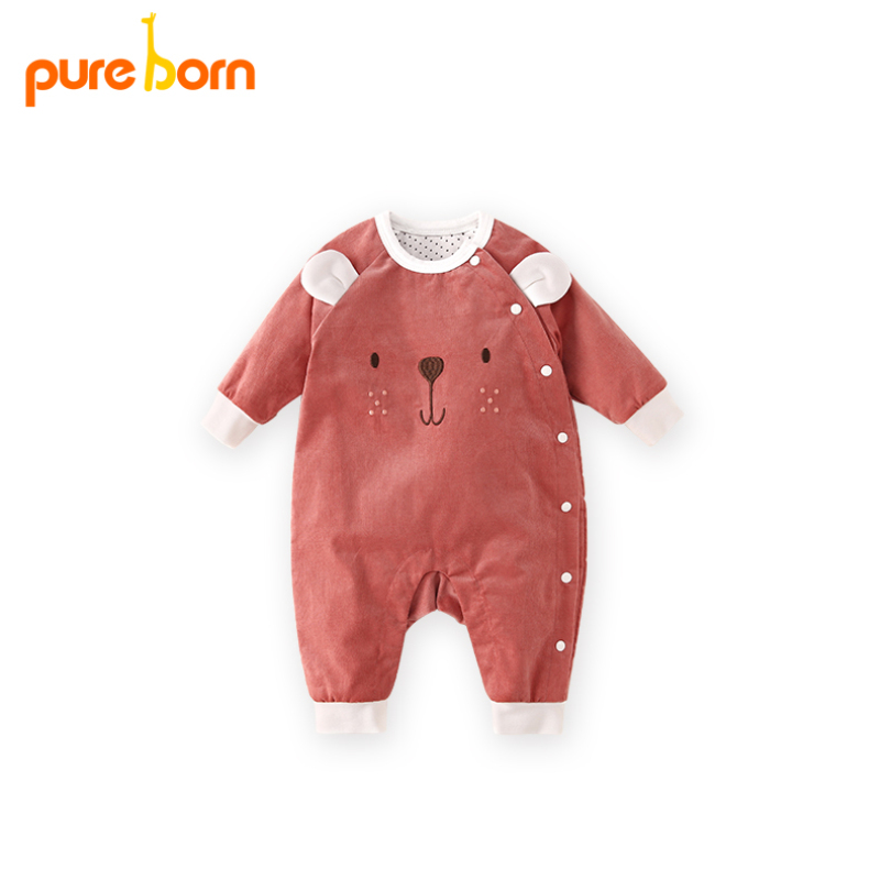 Baby Rompers Winter Warm Newborn Baby Clothes Long Sleeve Christamas Infant Jumpsuit Cotton Toddlers Baby Girls Overall Wear newborn baby rompers baby clothing 100% cotton infant jumpsuit ropa bebe long sleeve girl boys rompers costumes baby romper