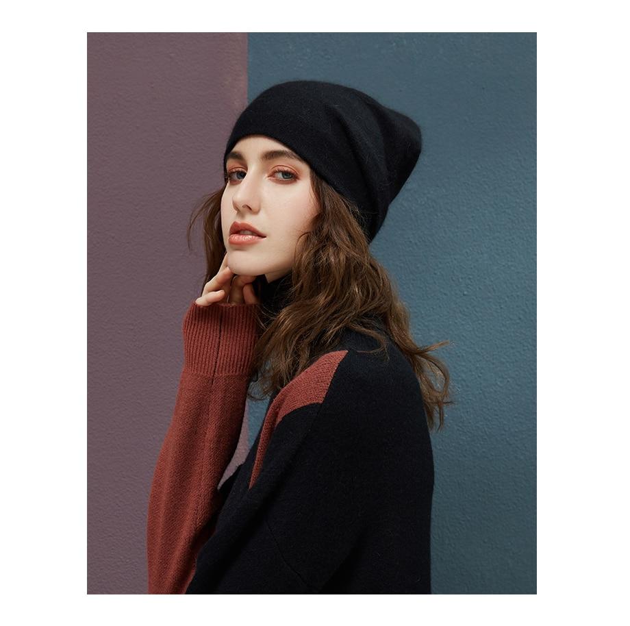 Women's Winter Beanies 2018 Stretchy Knitted Hat Flashing Glass Rhinestone Hat Female Cashmere Bonnets Elegant Warm Beanie Gorro (6)