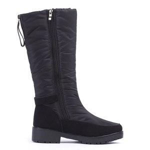 Image 3 - Gogc 冬のブーツの女性 2019 秋の冬の女性の高ブーツ防水ブランドの女性の靴 warmful 冬の靴の女性フラット 9893