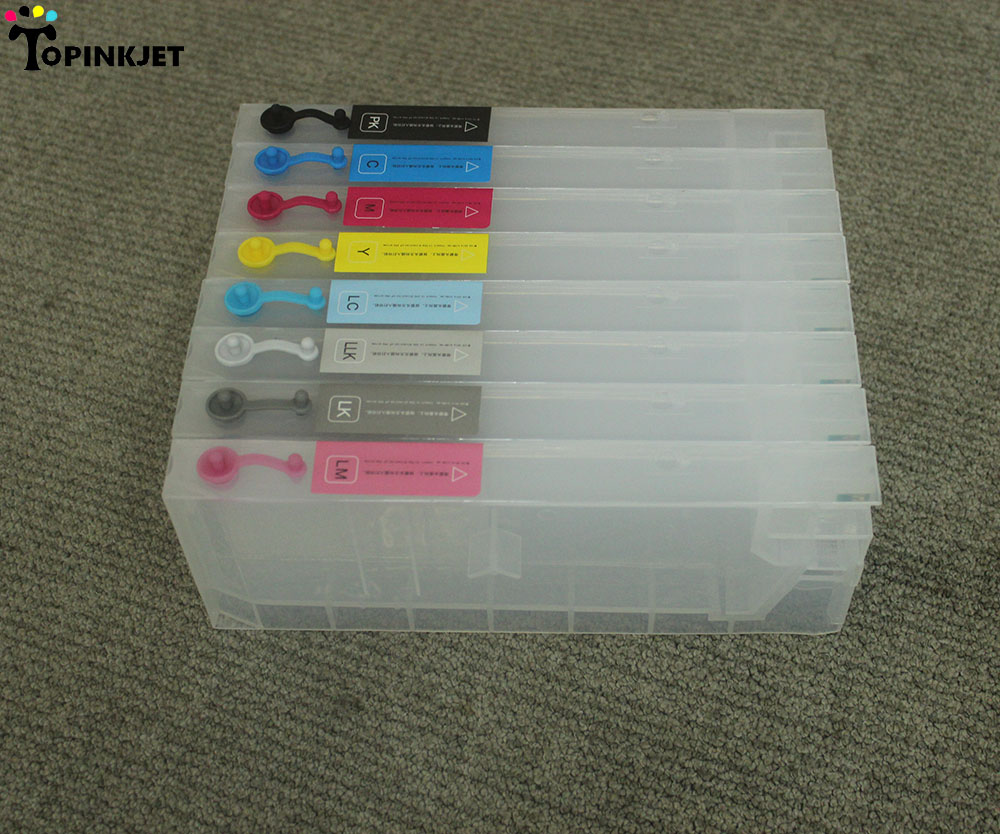 8pcs set Refill Ink Cartridges for Epson Stylus Pro 4880 printer