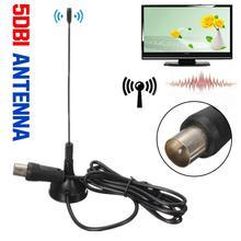 100% חדש לגמרי באיכות גבוהה 1080P DVB T הטלוויזיה HDTV אנטנת דיגיטלי VHF UHF 50 קילומטרים 5dBi אנטנה כלי עבור DVB T USB מקל שחור