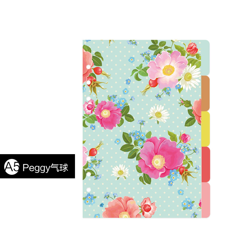 New candy homemade notebook dividers,candy flower pattern binder Index paper for planner/diary 5sheets A5 A6-in Notebooks from Office & School Supplies on ...
