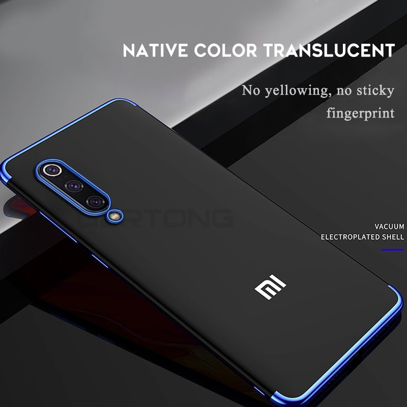 Transparent Phone <font><b>Case</b></font> For Xiaomi mi 9 9se <font><b>Mi8</b></font> Lite Mi9 <font><b>SE</b></font> Plating Coque For Redmi 5Plus 6 6A Note 7 6 5 Pro TPU Cover Fundas image