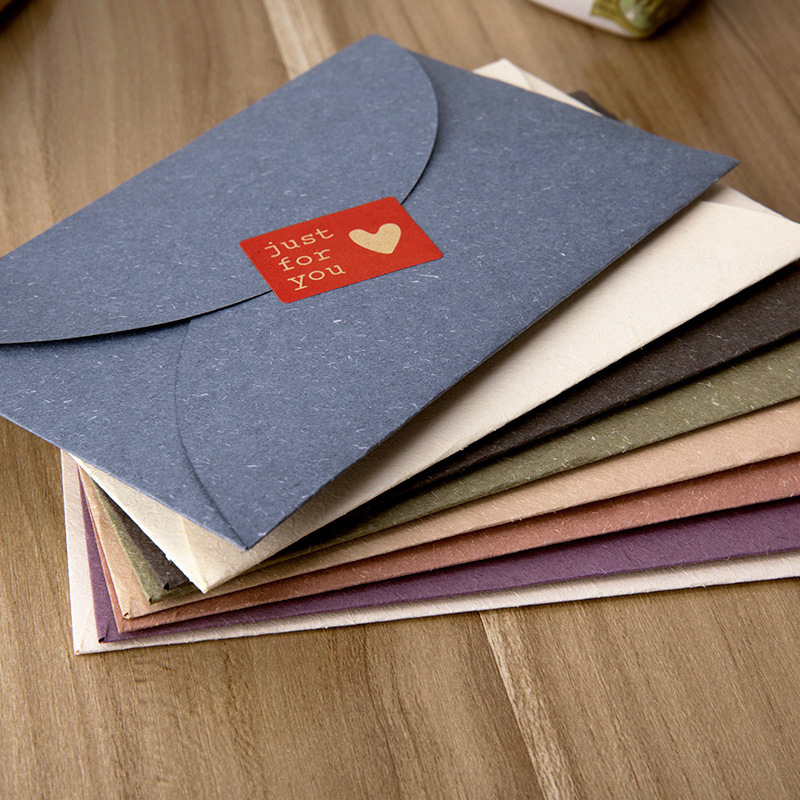 10pcs/lot Retro Handmade Mini Kraft Paper Envelope Stationery Gift For Wedding Gift Party Invitation Card Business Card 2206