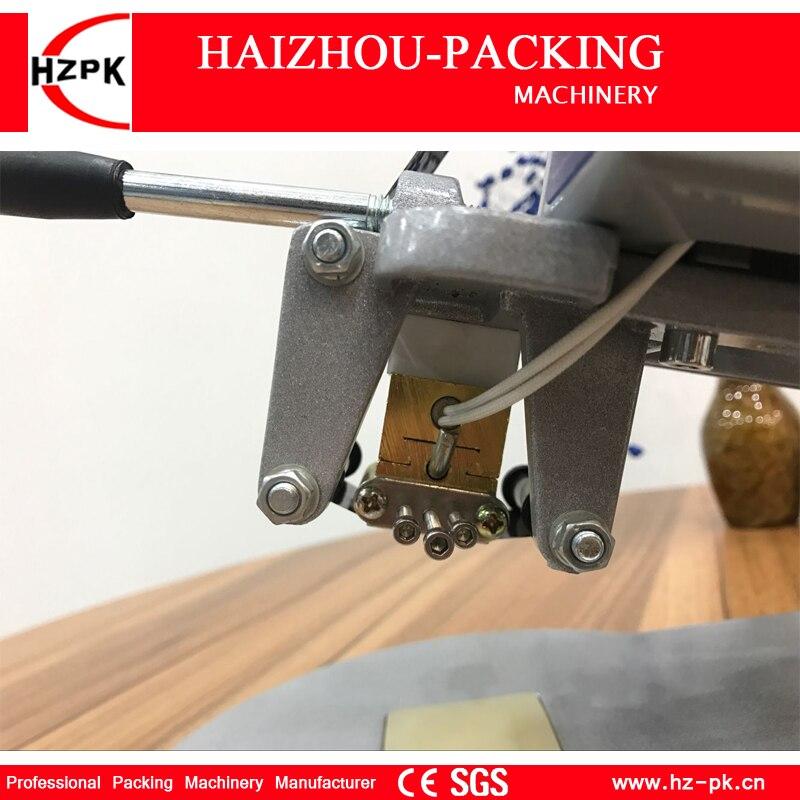Купить с кэшбэком HZPK Color Ribbon Hot Coding Machine Heating Foil Manual Stamps Code Printing Machine Labels Plastic Bag Printer Machine DY-8