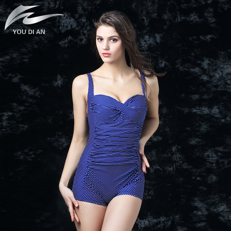 Plus Size Swimwear Women Swimsuit Summer Large Beach Vintage Retro One Piece Swimsuit Bathing Suits Swim Wear new design backless sexy one piece swimsuit plus size swimwear female vintage bathing suits for summer beach