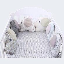 Лидер продаж, 6 шт./лот, бампер для детской кроватки, бампер для детской кроватки, защита для детской кроватки, бампер для новорожденных, мультяшный Комплект постельного белья для малышей