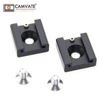 CAMVATE 2×1/4 «Горячий Холодный башмак крепление для Blackmagic DSRL штатив видео свет кино камера клетка C0993 фото интимные аксессуары