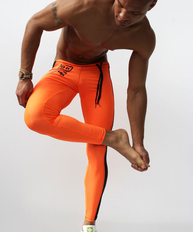 Fashion Men's Sexy Tight Pants Casual Sweatpants Low Rise Elastic Skinny Active Pants Compression Track Bottoms Leggings