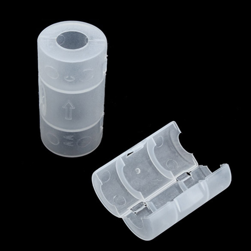 2 Pcs/Set Converter Adapter AA To C Size Battery Case White SD998