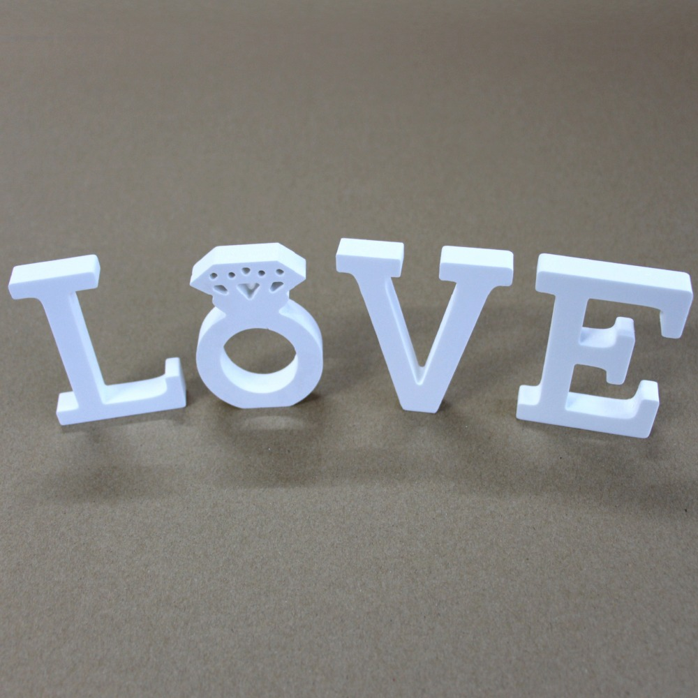 15cm Mesterséges fából készült betűk születésnapi esküvői - Lakberendezés - Fénykép 5
